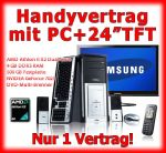 Handyvertrag plus AMD DUAL Core PC / Computer mit 24 Zoll Monitor