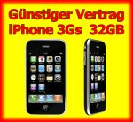 G�nstiger Handyvertrag mit Handy Apple iPhone 3Gs 32GB