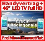 Handy Bundle LED TV, Handyvertrag FreiMin, Internet Flat