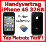 Handyvertrag iPhone 4S, schwarz, 32GB, simlockfreies iPhone 4S