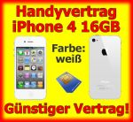 Handyvertrag mit iPhone 4, wei�, 16GB, Zugabe weisses iPhone