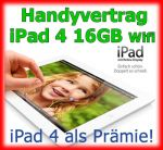 Handyvertrag Apple iPad 4 16GB WiFi als Handy Bundle